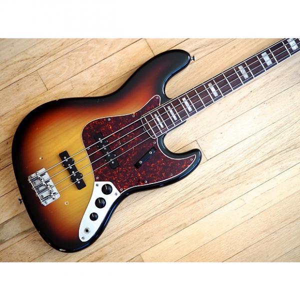 Custom 1969 Fender Jazz Bass Vintage Electric Bass Guitar Sunburst w/ Hardshell Case #1 image