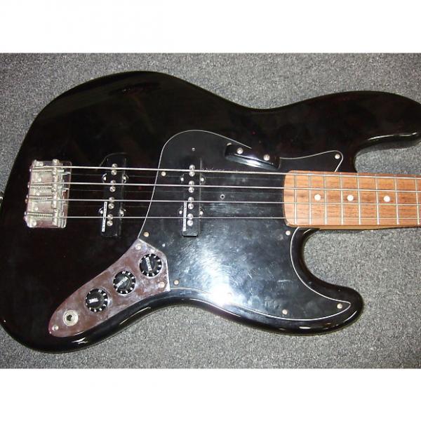 Custom Fender  Standard Jazz Bass Black With Seymour Duncan Bass Line Pickups #1 image