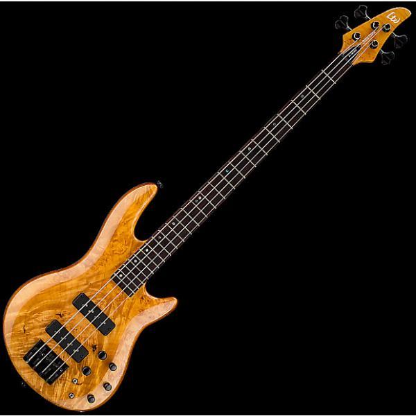 Custom ESP LTD H-1004SE Electric Bass in Honey Natural Finish #1 image