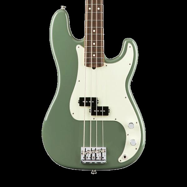 Custom Fender American Professional Precision Bass with Rosewood Fingerboard - Antique Olive with Case #1 image