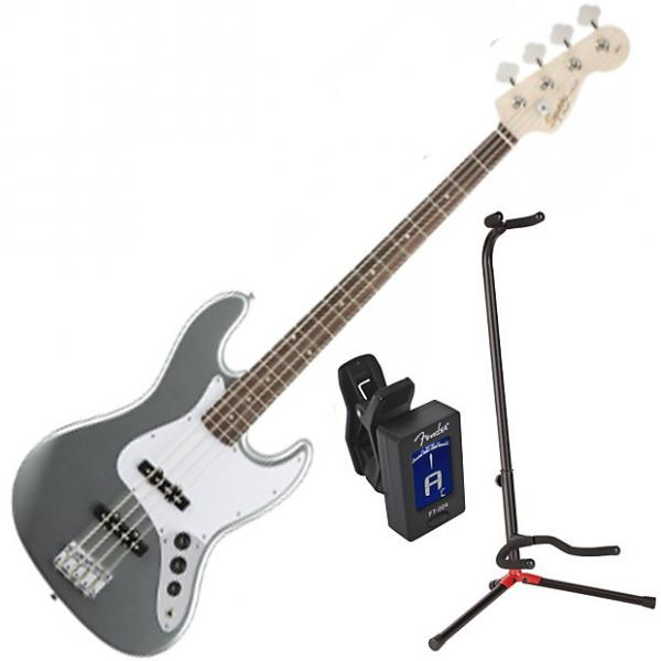Custom Squier 031-0760-581 Affinity J Bass RW Jazz Bass Guitar Bundle #1 image