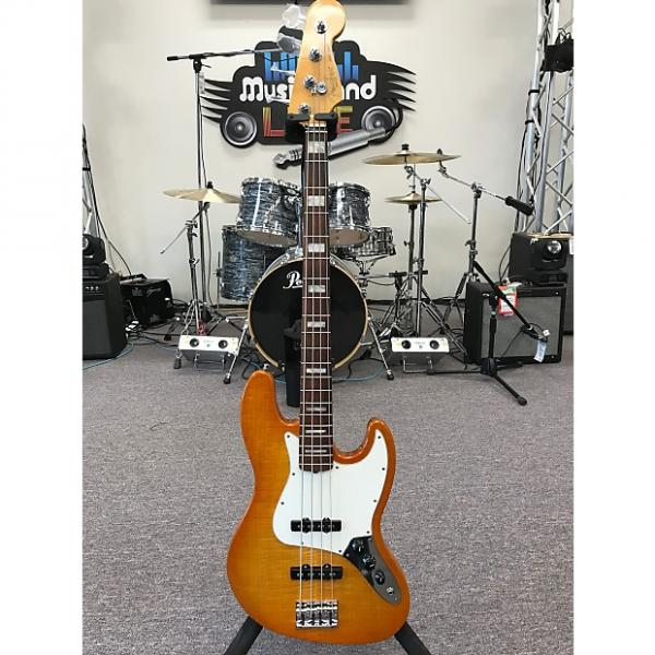 Custom Fender American Select Jazz Bass 2012 Amber Burst #1 image