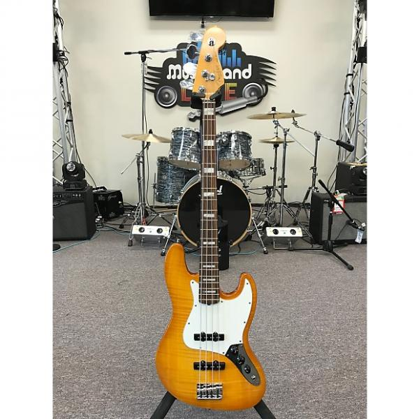 Custom Fender American Select Jazz Bass 2012 Amber Burst #1 image