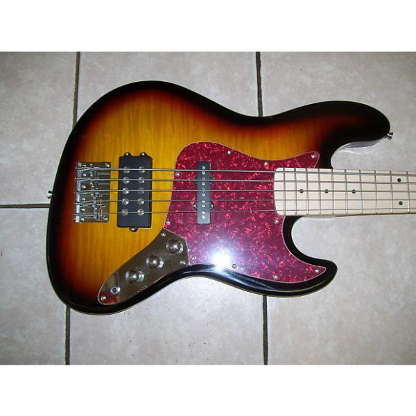 Custom 5 string bass guitar, New P bass #1 image