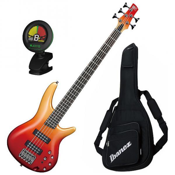 Custom Ibanez SR305E 5-String Autumn Fade Metallic Electric Bass Bundle #1 image
