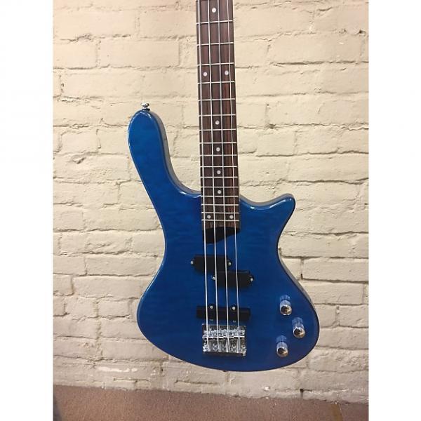 Custom Washburn T14Q Electric Bass Trans Blue Quilt #1 image