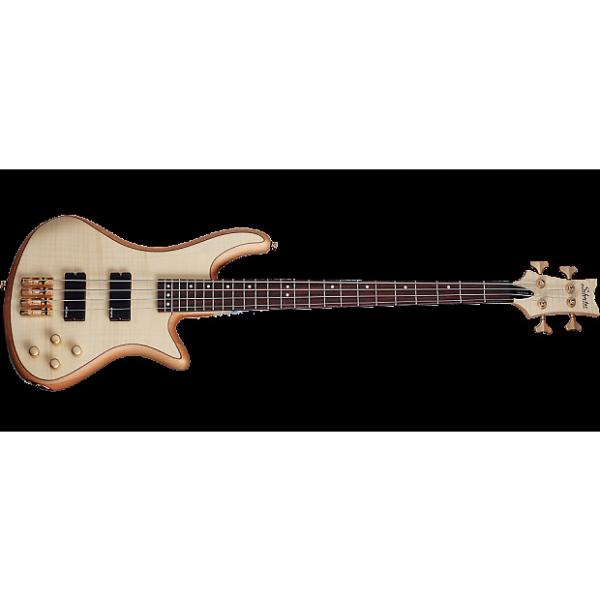 Custom Schecter Stiletto Custom-4 Electric Bass in Gloss Natural #1 image