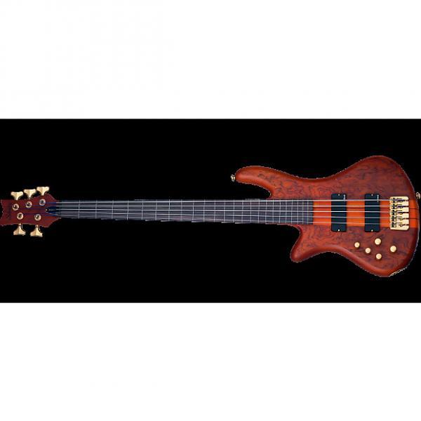 Custom Schecter Stiletto Studio-5 FL Left-Handed Electric Bass Honey Satin #1 image