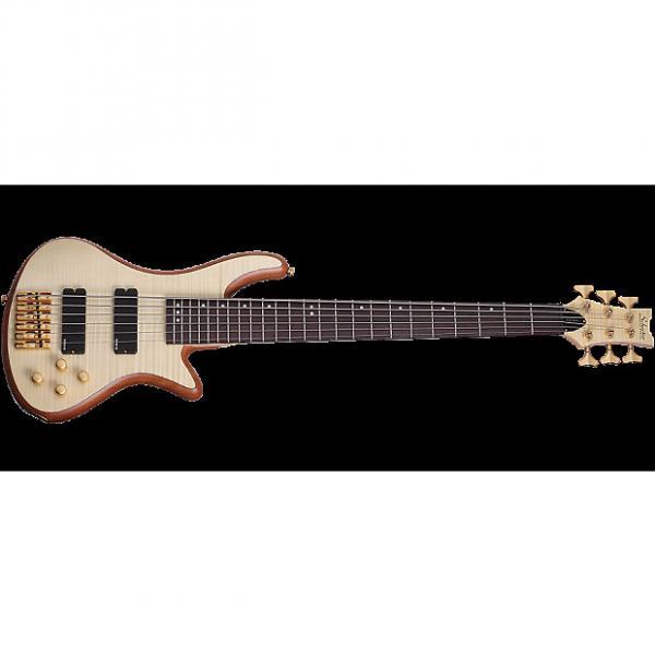 Custom Schecter Stiletto Custom-6 Electric Bass Gloss Natural #1 image