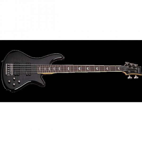 Custom Schecter Stiletto Extreme-5 Electric Bass See-Thru Black #1 image