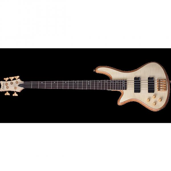 Custom Schecter Stiletto Custom-5 Left-Handed Electric Bass Gloss Natural #1 image