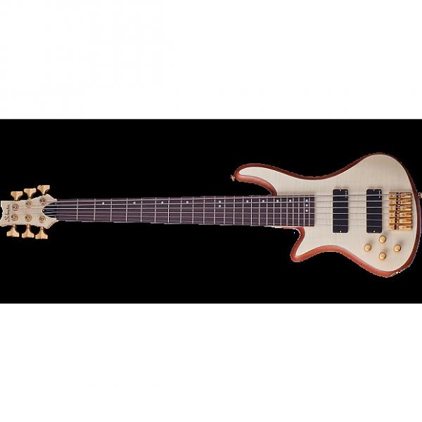 Custom Schecter Stiletto Custom-6 Left-Handed Electric Bass Gloss Natural #1 image