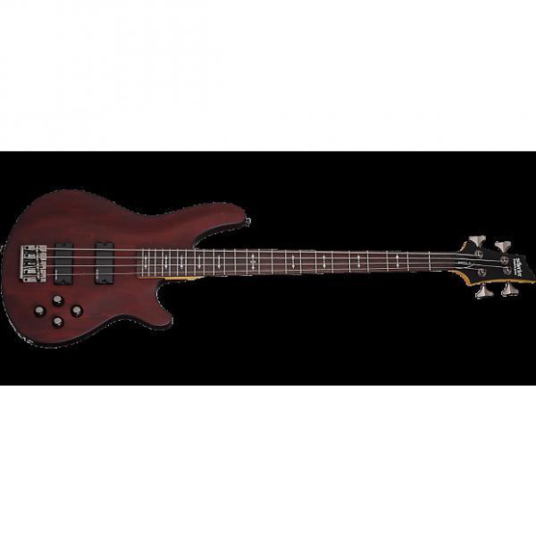 Custom Schecter Omen-4 Electric Bass in Walnut Satin Finish #1 image
