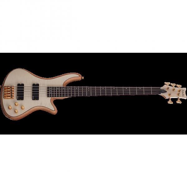 Custom Schecter Stiletto Custom-5 Electric Bass Gloss Natural #1 image
