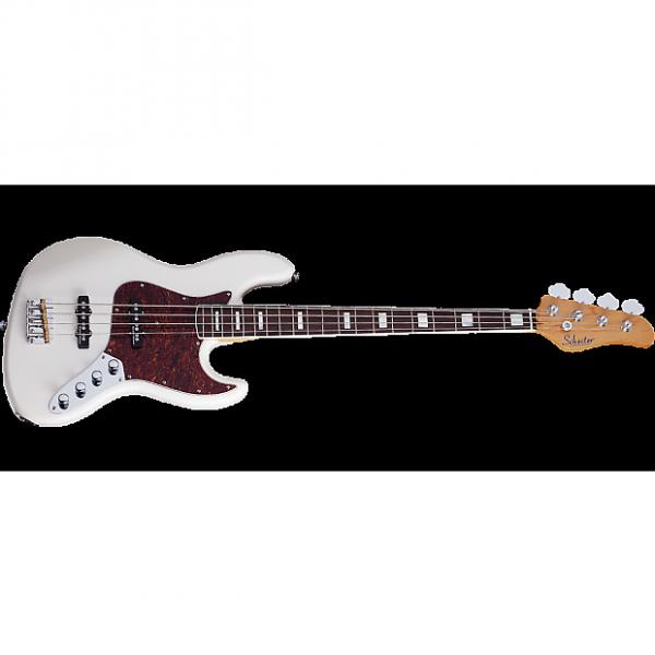 Custom Schecter Diamond-J Plus Electric Bass in Ivory Finish #1 image