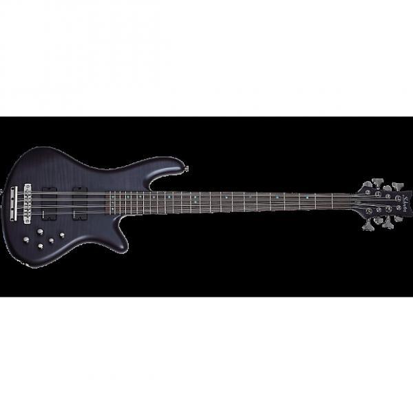 Custom Schecter Stiletto Studio-8 Electric Bass See-Thru Black Satin #1 image