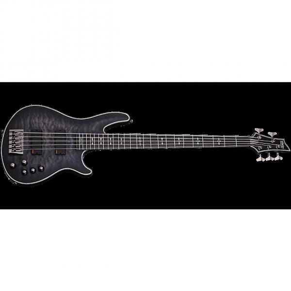 Custom Schecter Hellraiser Extreme-5 Electric Bass See-Thru Black Satin #1 image