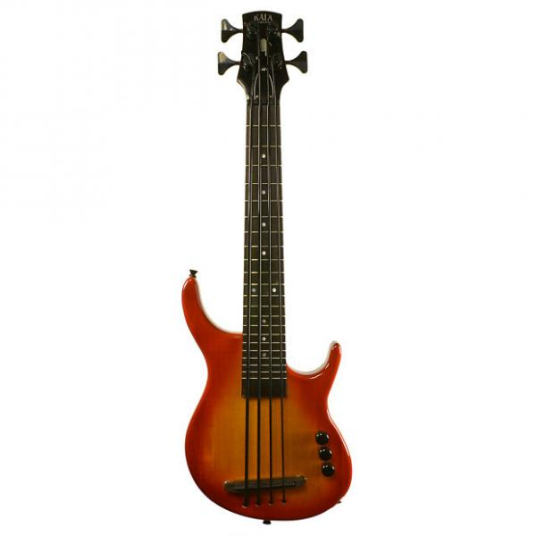 Custom Kala U Bass Solid Body Cherry Burst w/ Gig Bag UBASS-SUB4FS-CHBRST #1 image
