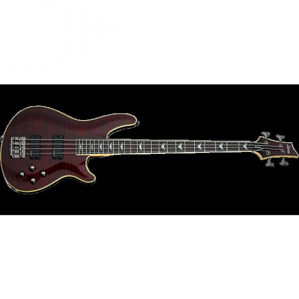 Custom Schecter Omen Extreme-4 Electric Bass in Black Cherry Finish #1 image