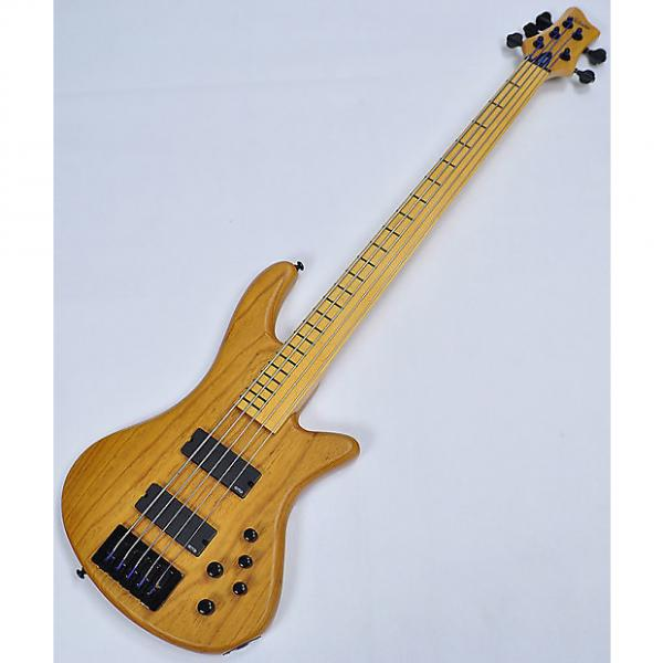 Custom Schecter Stiletto Session-5 FL Electric Bass Aged Natural Satin #1 image