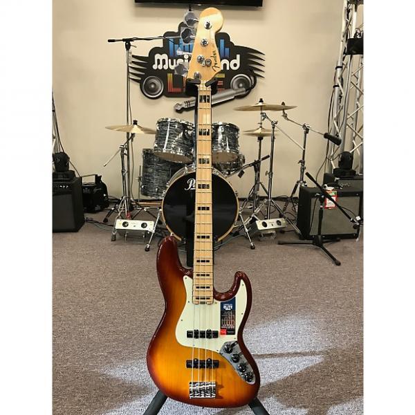 Custom Fender American Elite Jazz Bass 2016 Tobacco Sunburst #1 image