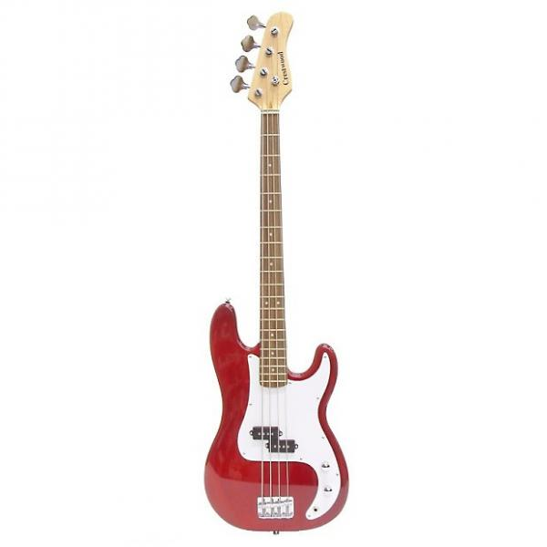 Custom Crestwood PR970R 4-String Bass Guitar Red #1 image
