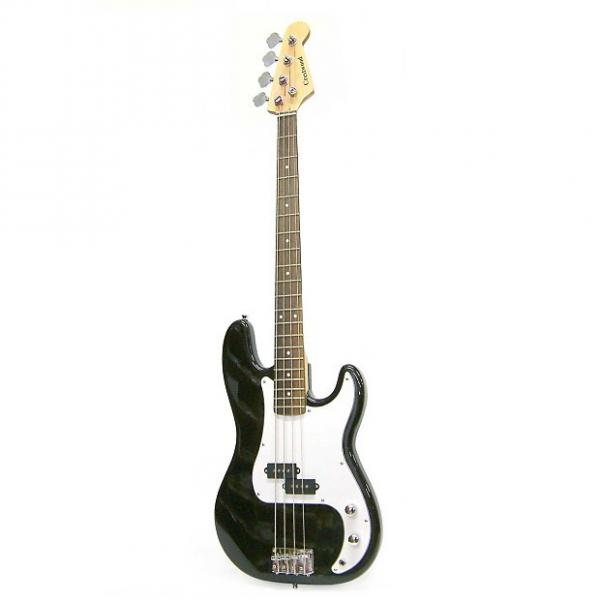 Custom Crestwood PB970B 4-String Bass Guitar Black #1 image