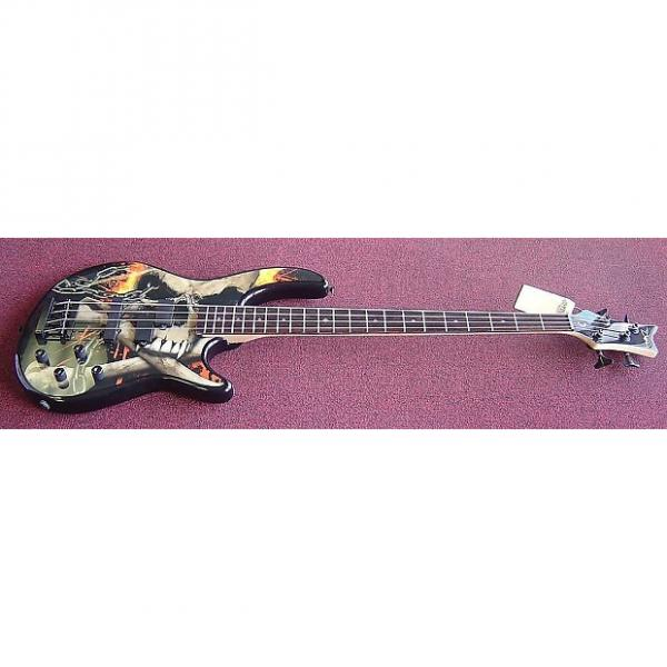Custom DEAN EDGE 10 PJ W/ACTIVE EQ 4-String Bass Guitar (Skull Crusher) #1 image