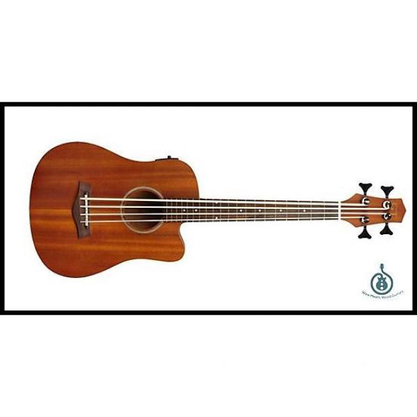 "Custom Gold Tone Micro Bass 23 Fretless 23"" Scale All Mahogany Acoustic Electric w/ Padded Gig Bag #1 image"