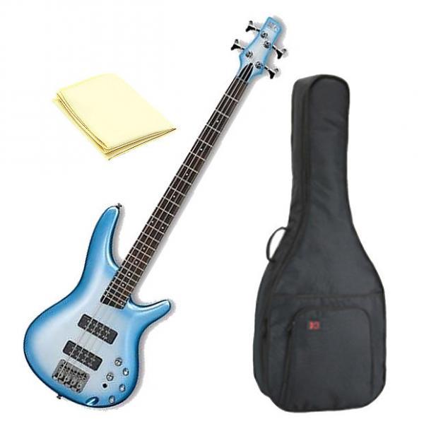 Custom Ibanez SR300ESMB 4-String Bass Guitar in Seashore Metallic Burst Finish with Accessories #1 image