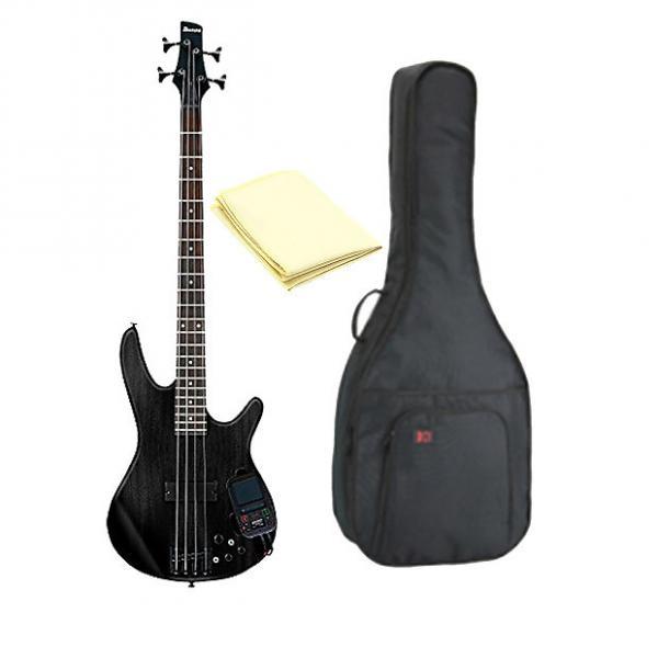 Custom Ibanez SRKP4 Electric Bass Guitar with Built in Kaoss Pad with Kaces KQA-120 Gig Pak Bag & Cloth #1 image