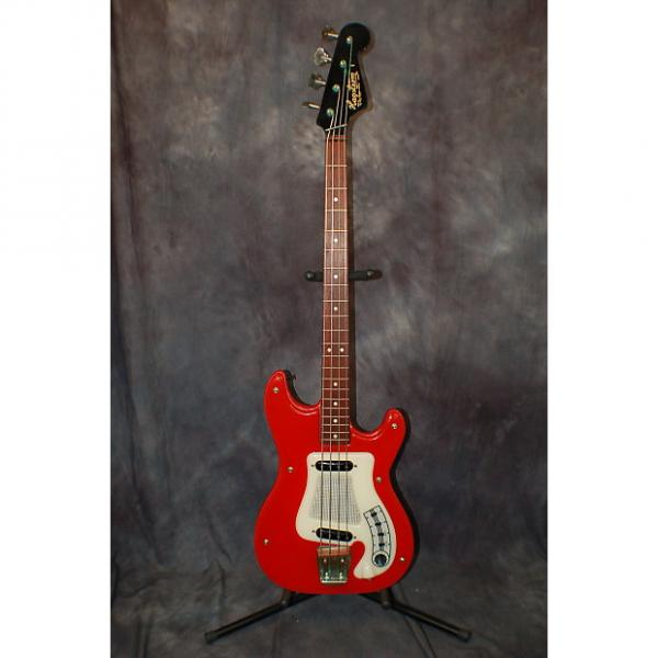 Custom 1964 Hagstrom I Bass RED Made in Sweden Pro Setup Original Softshell Deluxe Case #1 image