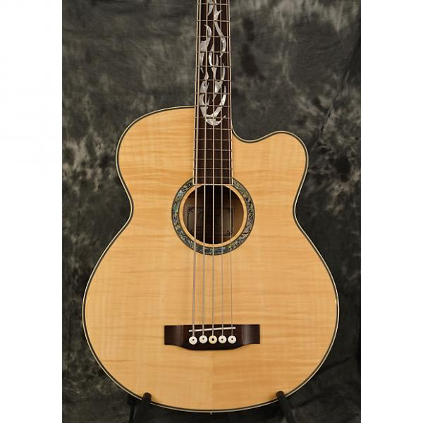 Custom Michael Kelly Phoenix 5 Acoustic Bass Natural Gloss Flamed Maple 5 String Dragonfly w Hard case #1 image
