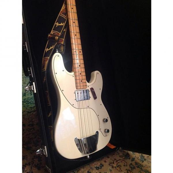 Custom Fender Telecaster bass 1973 White #1 image
