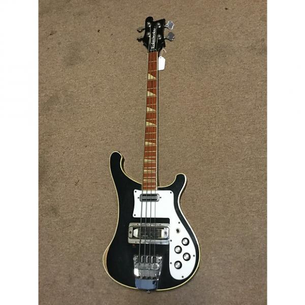 Custom Rickenbacker 4001 Bass Guitar 1973 Jetglo #1 image
