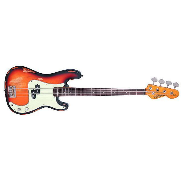 Custom Vintage Guitars US V4MR – ICON SERIES Sunset Sunburst P bass distressed #1 image