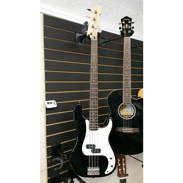 Custom Squier P-Bass  Black #1 image