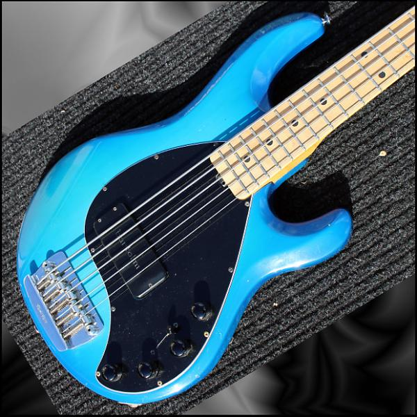 Custom Ernie Ball Music Man Classic StingRay 5 1993 Blue Burst ++ #1 image