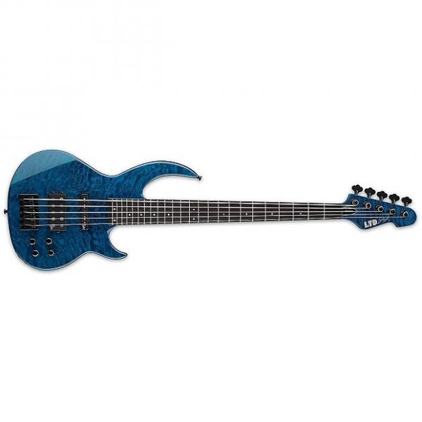 Custom Esp/Ltd Bb 1005 Black Aqua   Lbb1005 Qmblkaq #1 image