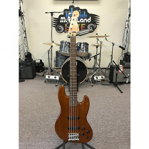 Custom Fender Deluxe Active Jazz Bass V Okoume 2014 Natural #1 image