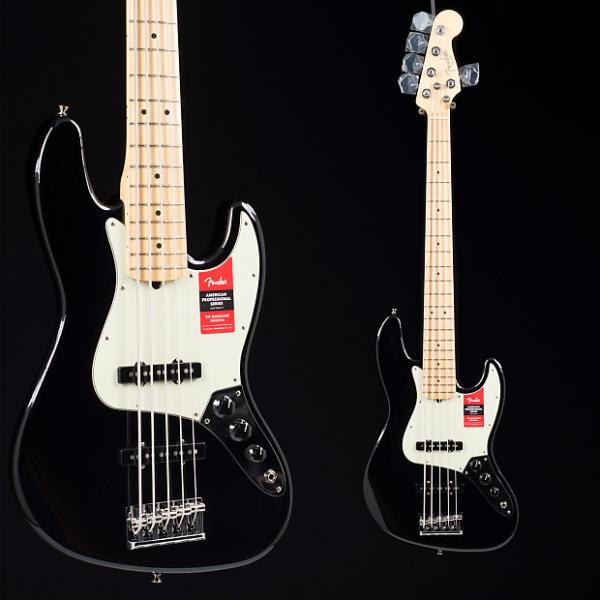Custom Fender American Professional Jazz Bass V Black 6626 #1 image
