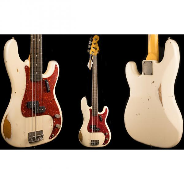 Custom Nash PB-63 2016 Olympic White Precision Bass Guitar - Medium Aging #1 image