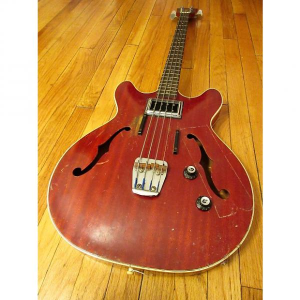 Custom Guild Starfire I Semi-Hollow Bass 1966 Cherry w/ gig bag #1 image