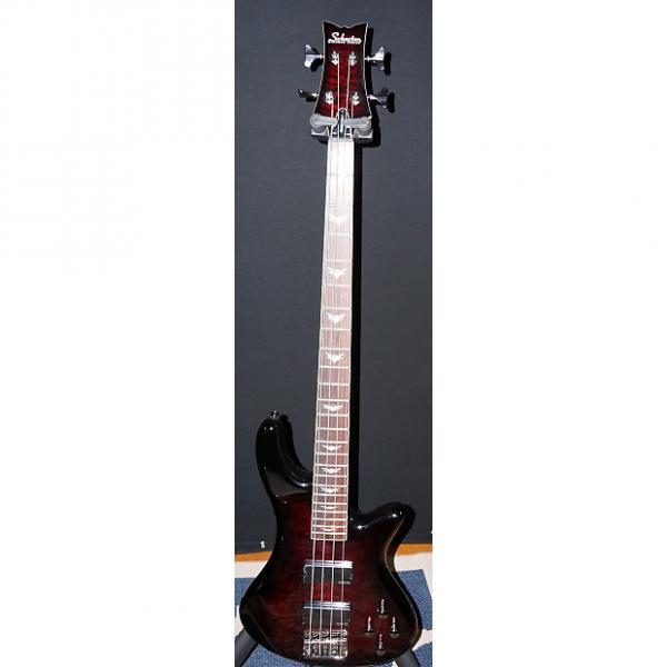Custom Schecter Stiletto Extreme-4 Bass Guitar 2014 See Thru Black Cherry #1 image