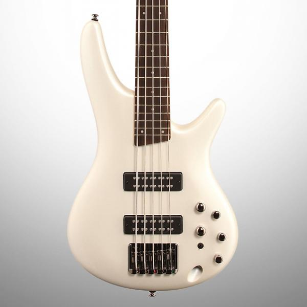 Custom Ibanez SR305E Electric Bass, 5-String, Pearl White #1 image