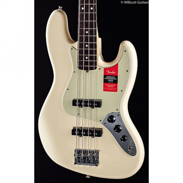 Custom Fender American Pro Professional Jazz Bass Olympic White Rosewood (431) #1 image