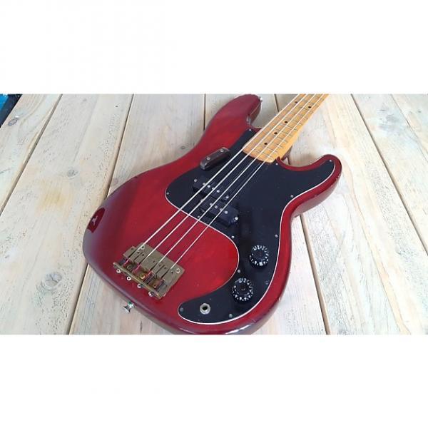 Custom Harmony  P- Bass  1977 Red #1 image