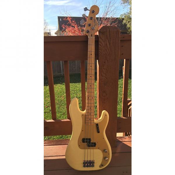 Custom Fender '57 Reissue Precision Bass Fullerton Model Anodized Pickguard 1982 Aged White Blonde #1 image