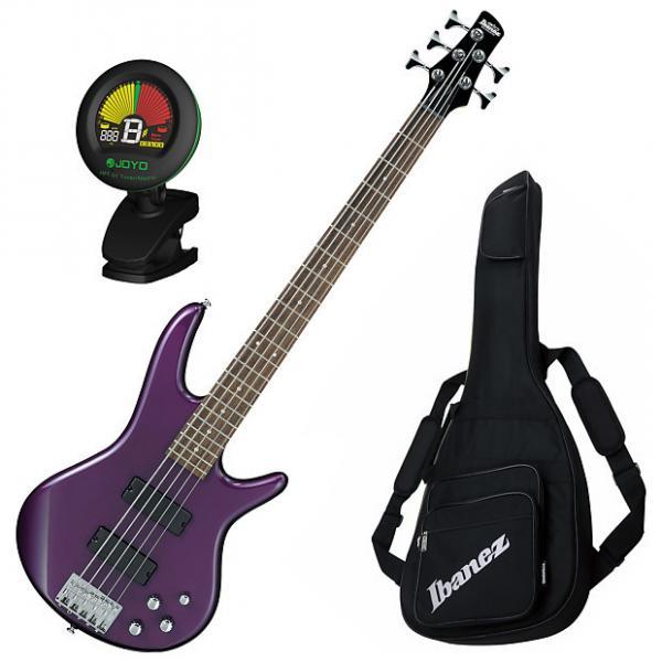 Custom Ibanez GSR205DVM 5-String Electric Bass Guitar Bundle #1 image
