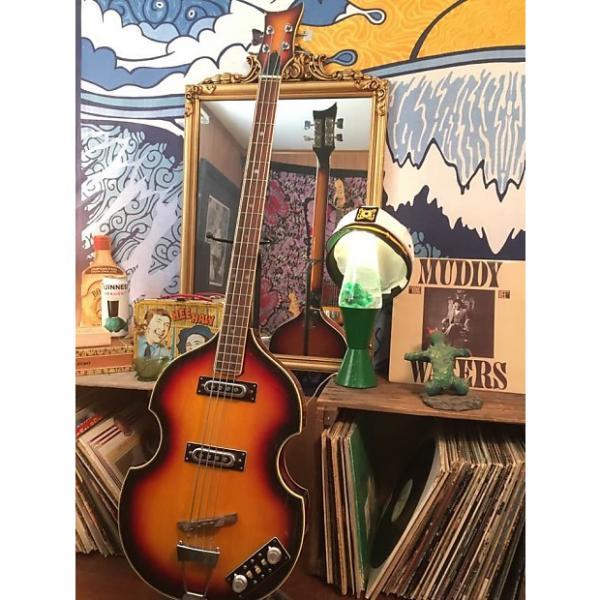Custom Univox Violin Bass 1970's 3 Tone Sunburst #1 image